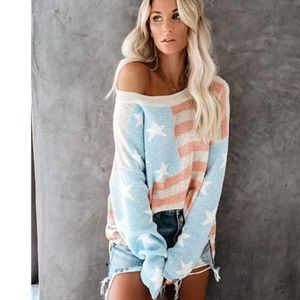 AMERICANA Oversized Knit Sweater